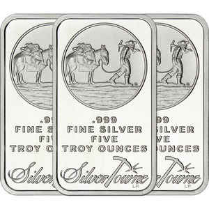 SilverTowne Trademark 5oz .999 Silver Bar 3pc