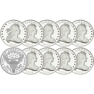 1804 Dollar Replica 1oz .999 Silver Medallion 10pc