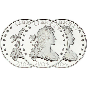 1804 Dollar Replica 1oz .999 Silver Medallion 3pc