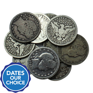 10pc Silver Barber Quarter Grab Bag Dates Our Choice