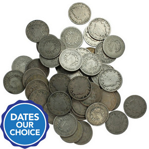 50pc Liberty Head V Nickel Grab Bag Dates Our Choice