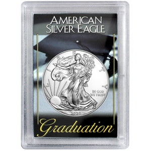 2019 Silver American Eagle BU in H.E. Harris Graduation Case