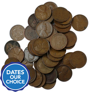 1930s Wheat Penny 50pc Grab Bag Dates Our Choice