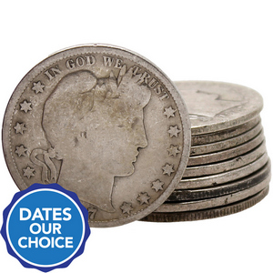 10pc Silver Barber Half Dollar Average Circulated Grab Bag Dates Our Choice