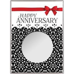 Happy Anniversary Red Bow Gift Holder for Silver American Eagle - Empty
