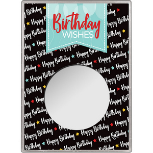 Birthday Wishes Balloons Gift Holder for Silver American Eagle - Empty