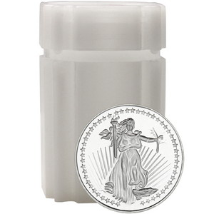 SilverTowne Trademark Saint-Gaudens Replica Half Ounce .999 Silver Medallion 20pc in Tube