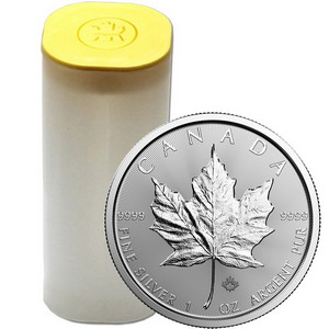 2019 Canada Silver Maple Leaf 1oz BU Coin 25pc Tube