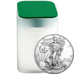 2019 Silver American Eagle BU 20pc Tube