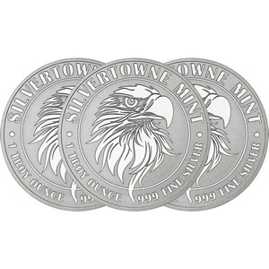 Mighty Eagle 1oz .999 Silver Medallion 3pc