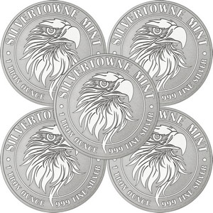 Mighty Eagle 1oz .999 Silver Medallion 5pc
