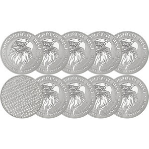 Mighty Eagle 1oz .999 Silver Medallion 10pc