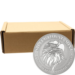 Mighty Eagle 1oz .999 Silver Medallion 500pc
