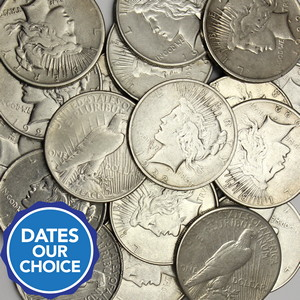 Cull Silver Peace Dollar Date Our Choice 20pc