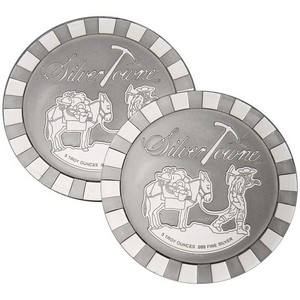 SilverTowne Stackables™ Trademark Prospector 5oz .999 Silver Medallion 2pc