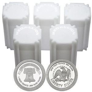 Liberty Bell Stackables 1oz .999 Silver Medallion 100pc