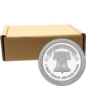 Liberty Bell Stackables 1oz .999 Silver Medallion 500pc