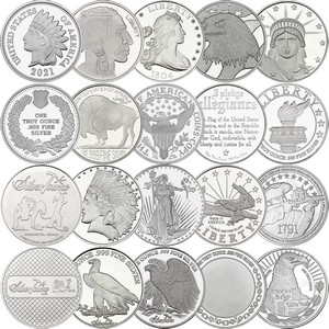 Mixed Designs 1oz .999 Silver Medallion 20pc