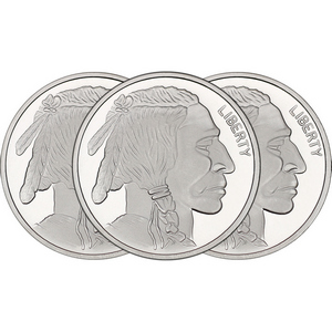 Buffalo Replica 1oz .999 Silver Medallion 3pc