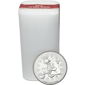 2018 Niue Silver Disney Scrooge McDuck 1oz BU Coin 25pc Tube