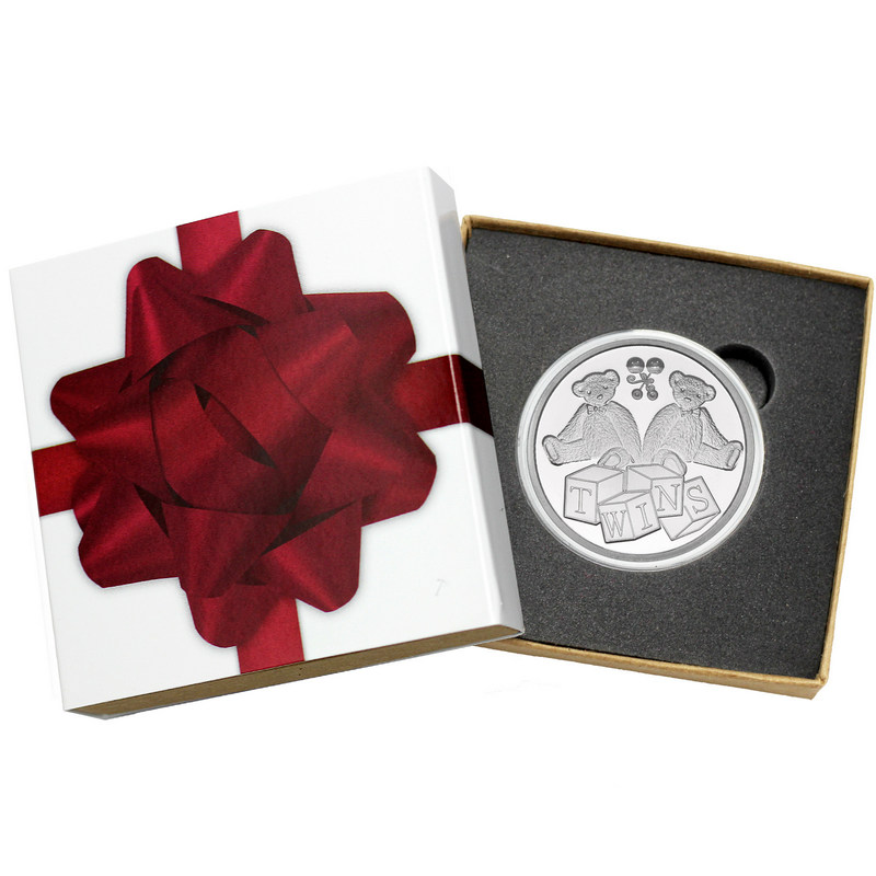 1oz Fine 999 Silver Free engraving Happy Birthday New Born//Arrival Baby Coin