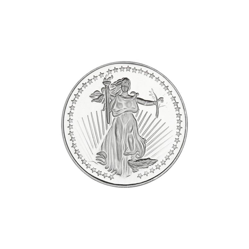 Saint-Gaudens Medallion by SilverTowne 1oz .999 Silver-5 pc