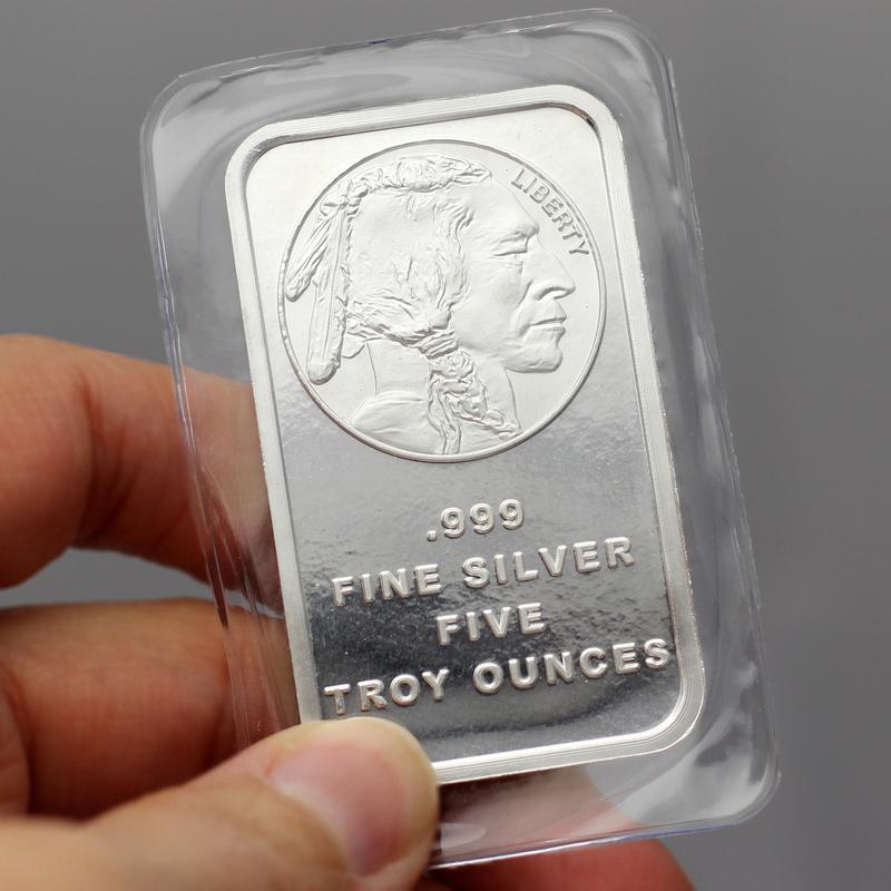 5 oz Buffalo Bar Silver