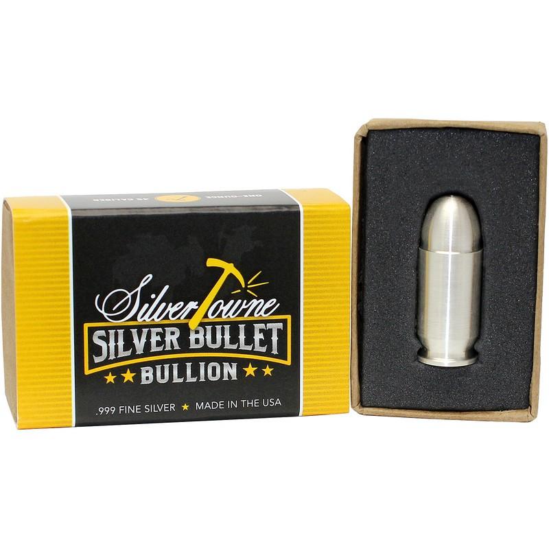 1 oz Silver Bullet .45 Caliber ACP