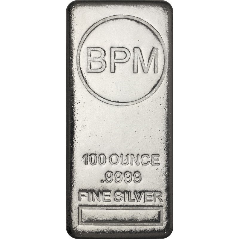 Wire Payment Only Lot of 5-100oz BPM .9999 Silver Bar