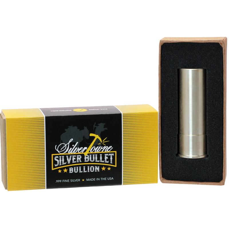 .999 Fine Box of 5 5 oz Silver Bullet Shotgun Shell 12 Gauge
