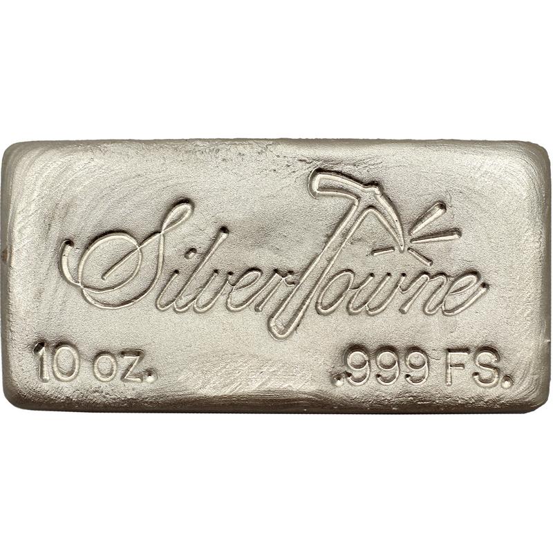 10 Oz Hand Poured Silver Bar 999 Fine