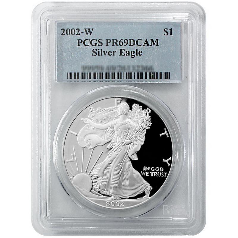 PCGS PR69 DCAM 2002-W American Silver Eagle Proof