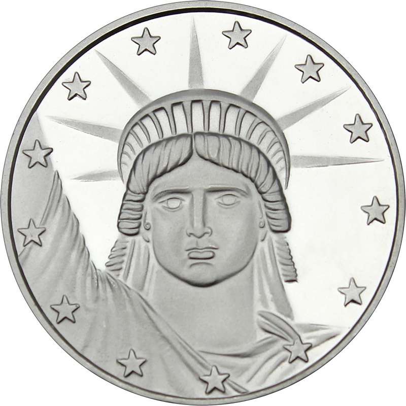 1 Oz Silver Medallion Lady Liberty Design Silvertowne