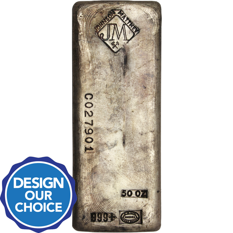 50oz Johnson Matthey Silver Bars Silvertowne