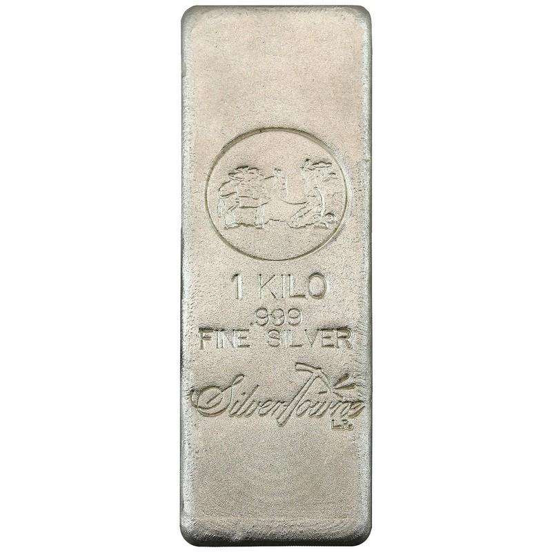 1 Kilo Silver Bars May 2019