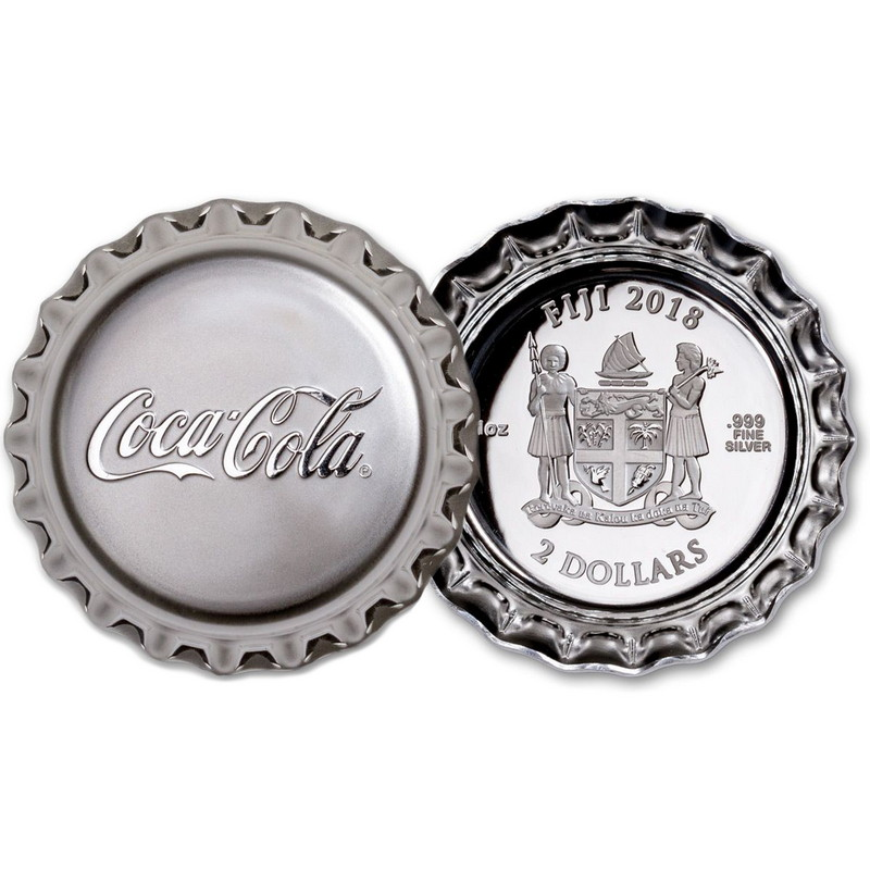 2020 Coca-Cola Chinese Version Silver Collectible Cap Pure Silver Coin-LOT 5