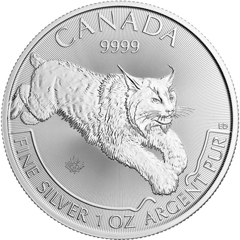 5 Dollars Predator Series - Silver 9999 1 Oz BU Lynx 2017 Canada 2017