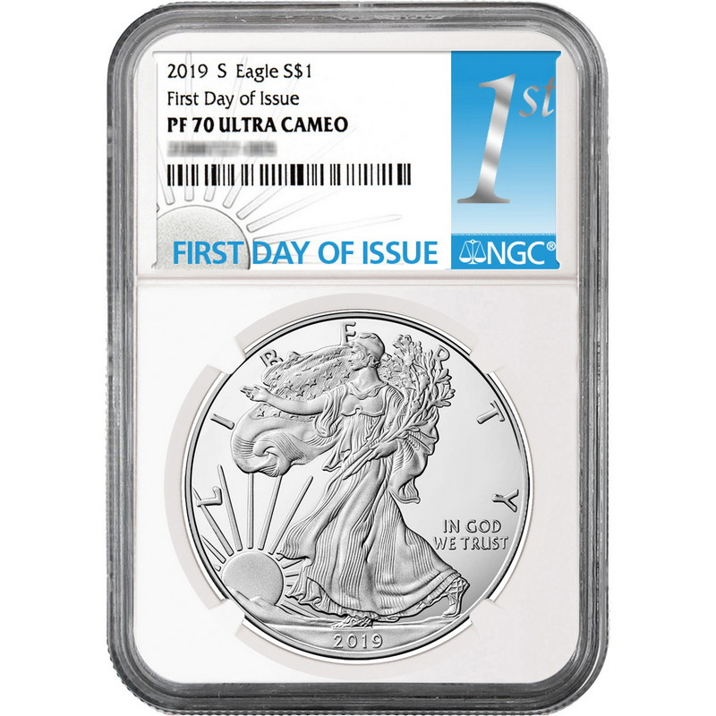 Liberty Label 2019 S Silver Eagle Proof NGC PF70 UC Early Releases