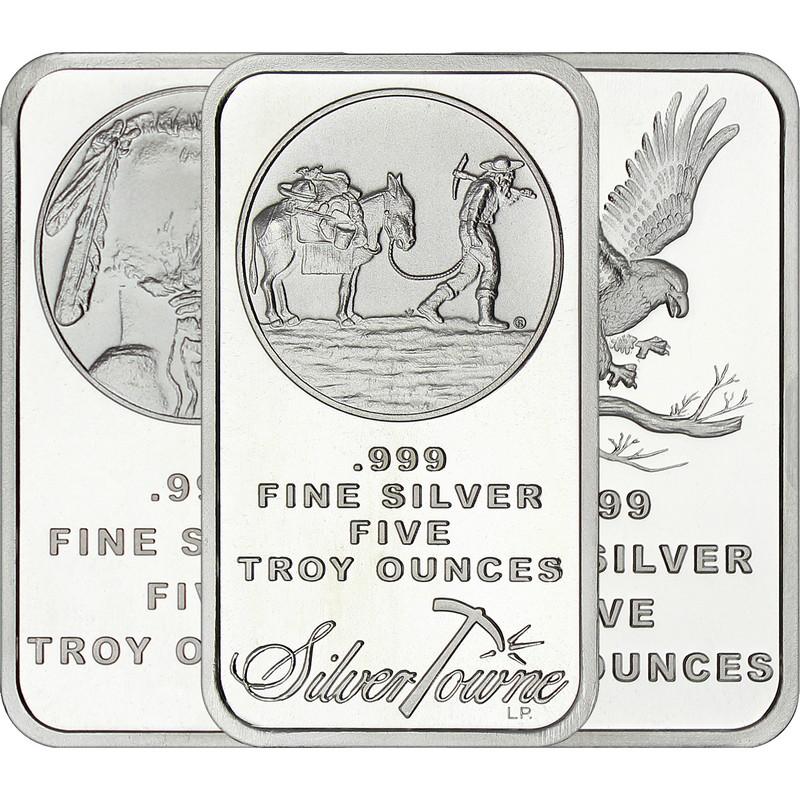 American Buffalo Bar by SilverTowne 1 oz .999 Silver Bar 3pc