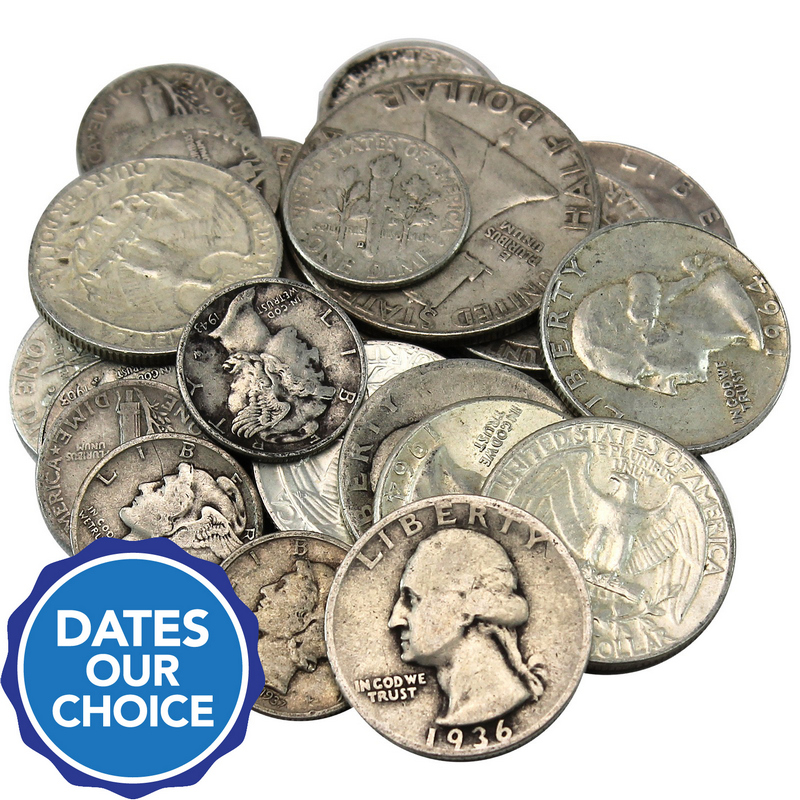 $5 FACE SILVER DOLLAR SILVER QUARTERS 90/% US SILVER COINS SILVER  BULLION