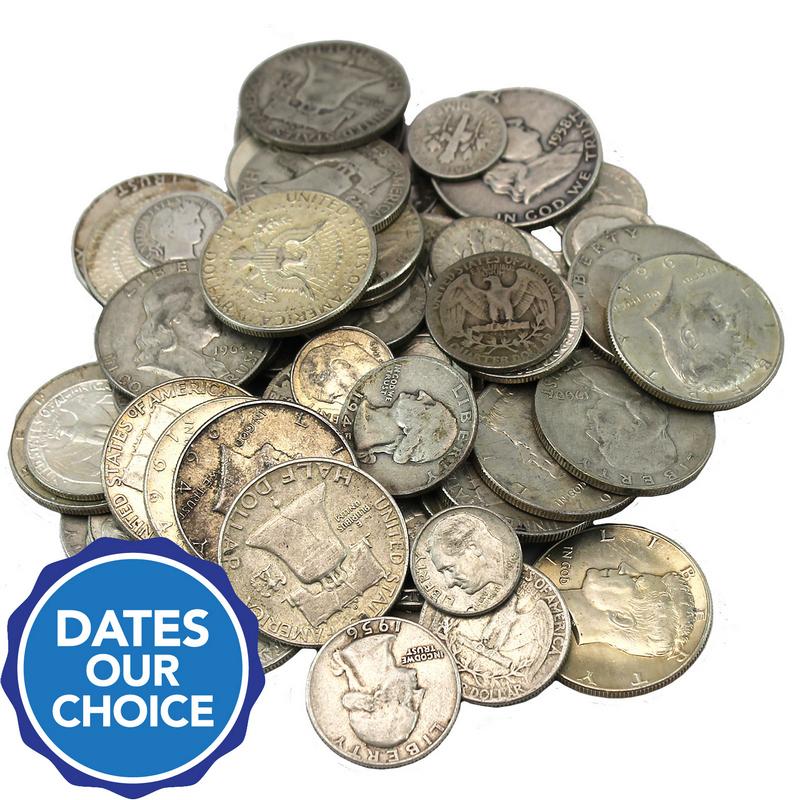 Random Dates Pre 1965 Washington Quarters 90/% Silver Coin Lot