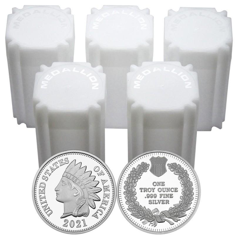 """Lot of 10 /'NEW/' 1 gram .999 Fine silver bullion bar /""""Indian Headdress/"""" Design"""
