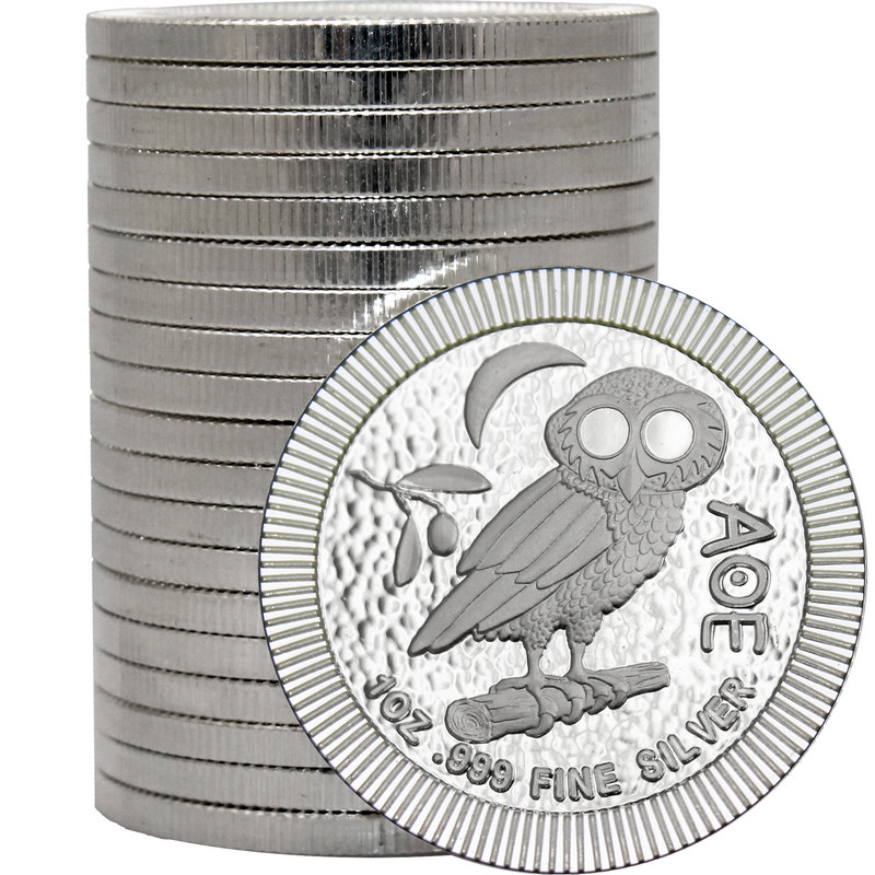 20pc 2018 Owl Of Athena Niue Stackables 999 Fine Silver Coin