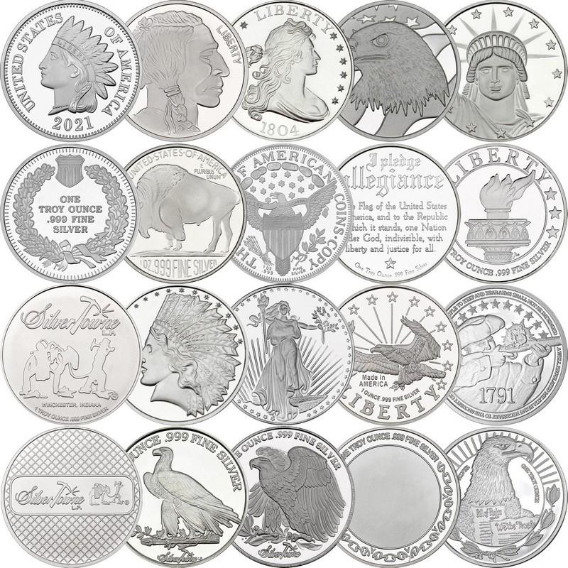 20 Piece 1oz Silver Round Mixed Lot | SilverTowne