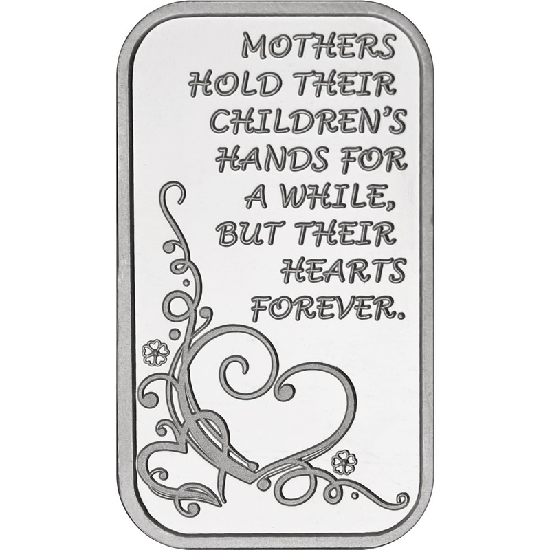 Happy Mother/'s Day Forever Hearts Silver Bar /& Silver American Eagle 2pc Gift