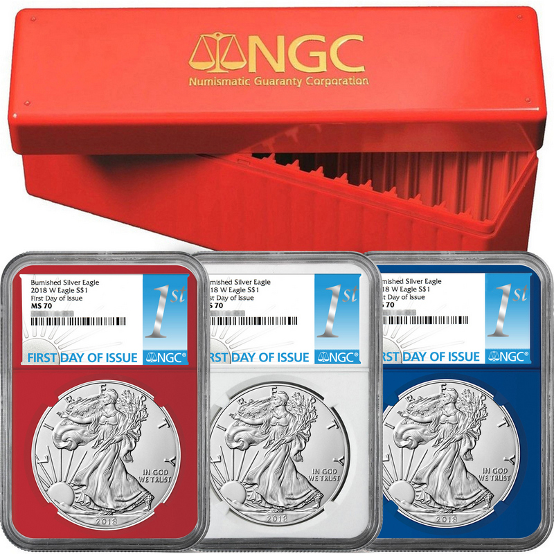 2018 W American Silver Eagle Burnished Ngc Ms70 Early Releases Wp Star