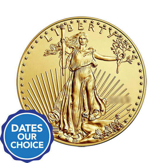 Gold American Eagle Half Ounce BU Date Our Choice