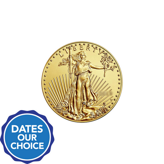 Gold American Eagle Tenth Ounce BU Date Our Choice