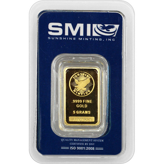 Sunshine Mint 5 Gram Gold Bar