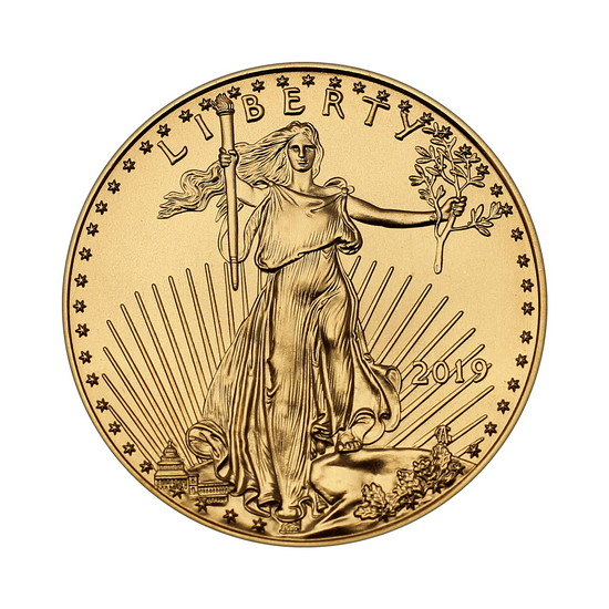 2019 Gold American Eagle Half Ounce BU Gold Coin
